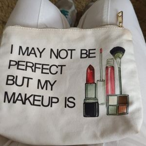 Gently used FOREVER 21 funny saying makeup bag